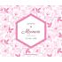 Personalized sticker pink diamond baptism