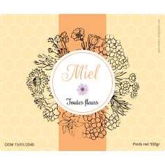 Personalized sticker honey all flowers