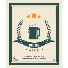 Self-adhesive custom label craft beer template