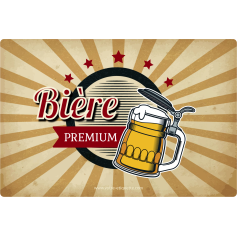 Personalized sticker template premium beer label