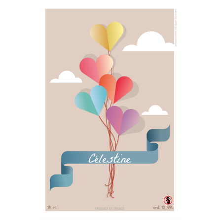 Personalized sticker label birthday balloons