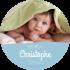 Personalized sticker round baptism