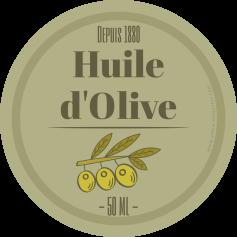Custom self-adhesive label round olive oil