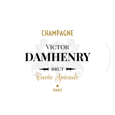 Champagne Damhenry personalized sticker label