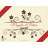 Personalized floral wedding sticker label