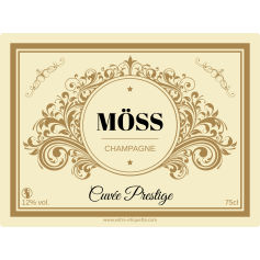 Champagne Self Adhesive Label
