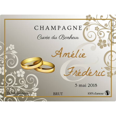 Champagne Alliance Self Adhesive Label