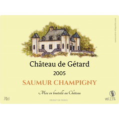 Personalized sticker label Gétard Castel