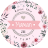 Custom label template Mother's day round