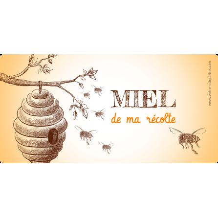Personalized label sticker honey perso