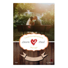 Personalized sticker wedding photo