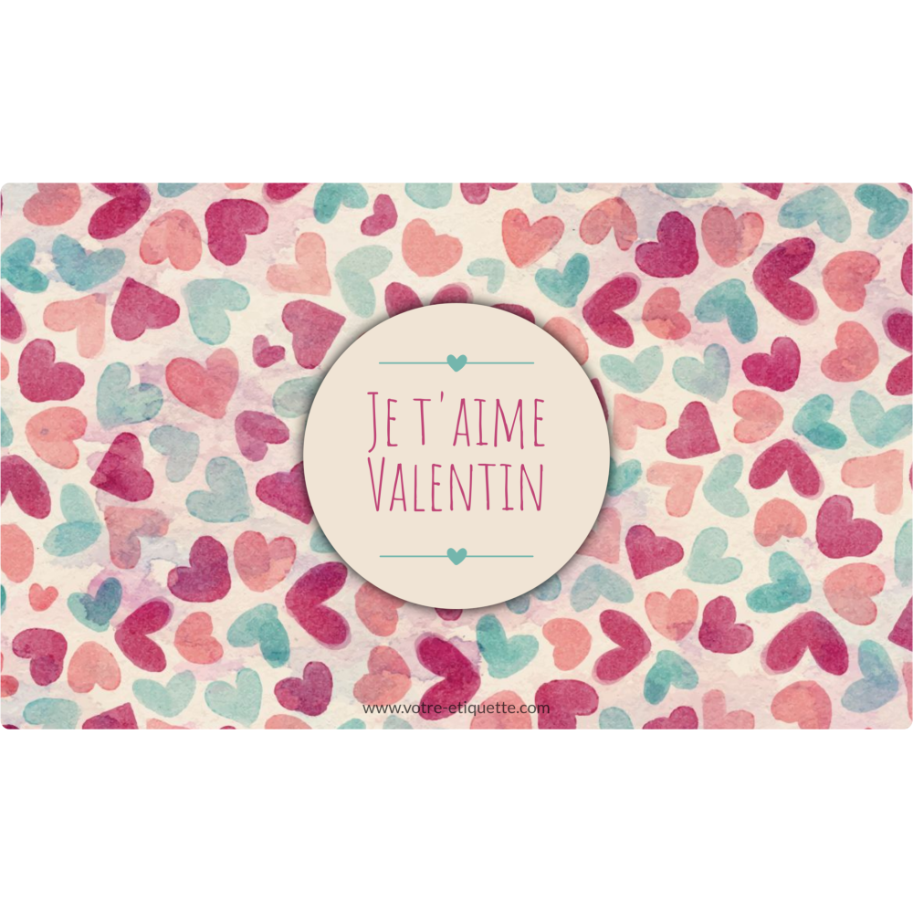 Personalized sticker label pastel love pattern