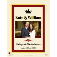 Kate and William Personalized Wedding Sticker</strong> &Eacute;tiquette cr&eacute;&eacute;e le 12/03/2018