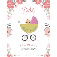 Personalized sticker label baptism pram</strong> &Eacute;tiquette cr&eacute;&eacute;e le 17/03/2018