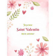 Personalized sticker label Valentine&#039;s day template</strong> &Eacute;tiquette cr&eacute;&eacute;e le 12/03/2018