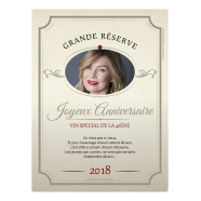 Personalized adhesive label birthday 40 years Authentic</strong> &Eacute;tiquette cr&eacute;&eacute;e le 23/03/2018