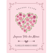 Personalized label template mother's day heart in bloom</strong> Étiquette créée le 14/05/2018