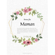Personalized label template pastel mother's day</strong> Étiquette créée le 15/05/2018