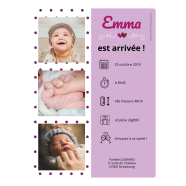 Self Adhesive Label Birth Announcement</strong> Étiquette créée le 02/03/2019