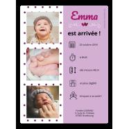 Étiquette personnalisée autocollante annonce de naissance</strong> &Eacute;tiquette cr&eacute;&eacute;e le 02/03/2019