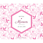 Personalized sticker pink diamond baptism</strong> &Eacute;tiquette cr&eacute;&eacute;e le 12/03/2018