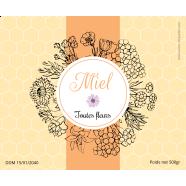 Étiquette autocollante personnalisée miel toutes fleurs</strong> &Eacute;tiquette cr&eacute;&eacute;e le 01/03/2019