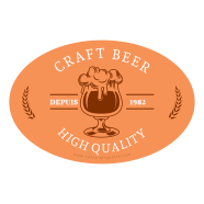 Self-adhesive custom label craft beer template</strong> &Eacute;tiquette cr&eacute;&eacute;e le 12/03/2018