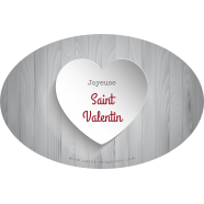 Personalized label sticker template oval valentine gray</strong> &Eacute;tiquette cr&eacute;&eacute;e le 12/03/2018