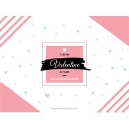 Personalized sticker label modern Valentine&#039;s day template</strong> &Eacute;tiquette cr&eacute;&eacute;e le 12/03/2018