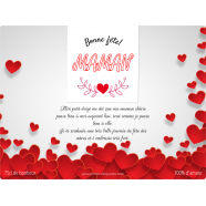Personalized label template mother&#039;s day heart</strong> &Eacute;tiquette cr&eacute;&eacute;e le 14/05/2018