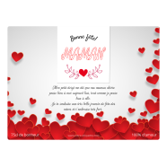 Personalized label template mother's day heart</strong> Étiquette créée le 04/06/2019