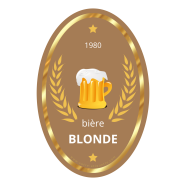 Custom label template blonde beer</strong> &Eacute;tiquette cr&eacute;&eacute;e le 23/04/2018