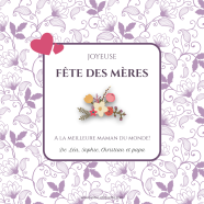 Purple mother's day customized label template</strong> Étiquette créée le 14/05/2018
