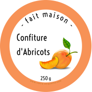 Personalized sticker label round jam</strong> Étiquette créée le 01/03/2019