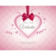 Personalized label sticker template heart ribbon</strong> &Eacute;tiquette cr&eacute;&eacute;e le 12/03/2018