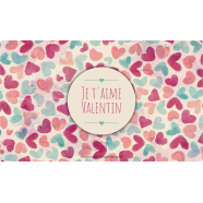 Personalized sticker label pastel love pattern</strong> &Eacute;tiquette cr&eacute;&eacute;e le 12/03/2018